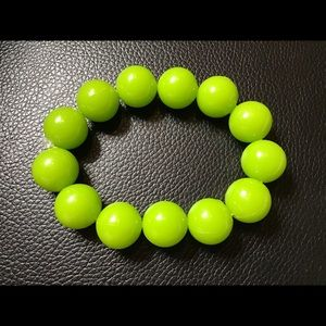 Green Beads Stretchy Bracelet